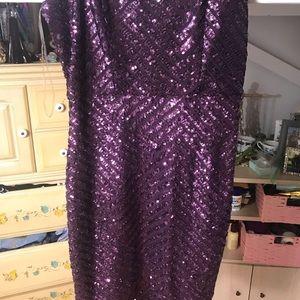 Charlotte Russe Dresses - Formal Purple Sequins Charlotte Russe Dress